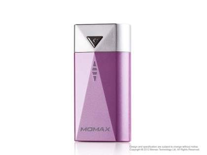 Momax iPower S2 External Battery Recharger with LED Flashlight - Pink Power Bank