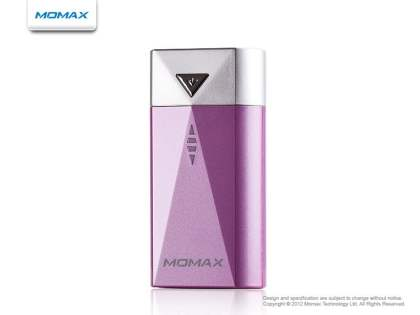 Momax iPower S2 External Battery Recharger with LED Flashlight for Nokia - Pink Power Bank