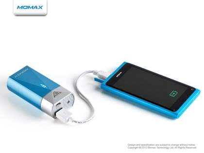 Momax iPower S2 External Battery Recharger with LED Flashlight for Nokia - Blue