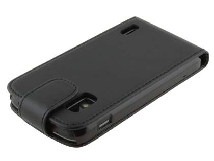 Synthetic Leather Flip Case for Google LG Nexus 4 E960 - Classic Black