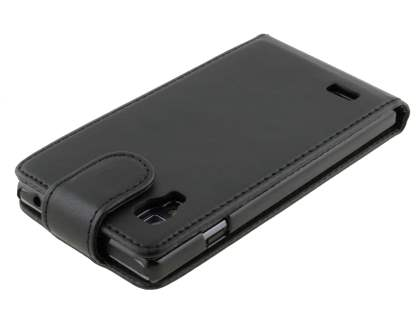 LG Optimus L9 P760 Synthetic Leather Flip Case - Classic Black