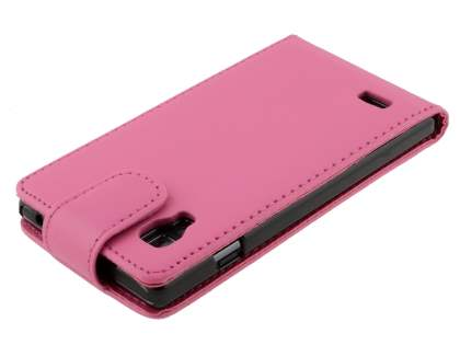 LG Optimus L9 P760 Synthetic Leather Flip Case - Pink