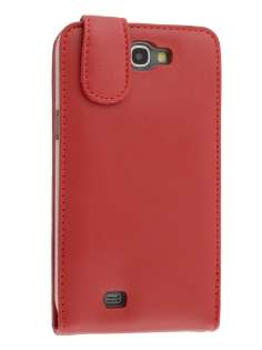 Genuine Leather Flip Case for Samsung Galaxy Note 2 4G - Red Leather Flip Case