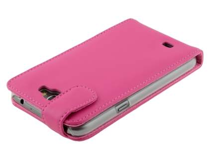 Samsung Galaxy Note 2 4G Genuine Leather Flip Case - Pink