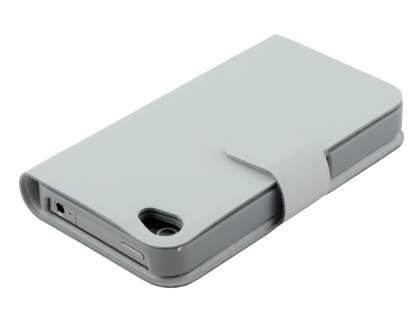 iPhone 4/4S Slim Genuine Leather Portfolio Case - White