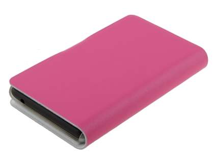 Nokia Lumia 820 Slim Genuine Leather Portfolio Case - Pink