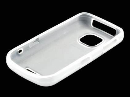 Nokia Asha 311 TPU Gel Case - Frosted Clear