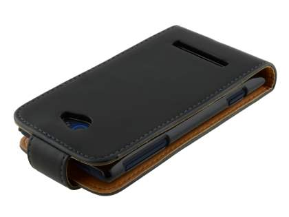 HTC Windows Phone 8S Synthetic Leather Flip Case - Black