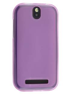 Frosted TPU Case for HTC One SV - Light Purple