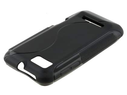Motorola DEFY XT535 Wave Case - Frosted Black/Black
