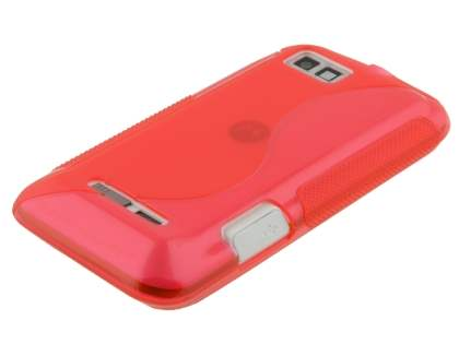 Wave Case for Motorola DEFY XT535 - Frosted Red/Red