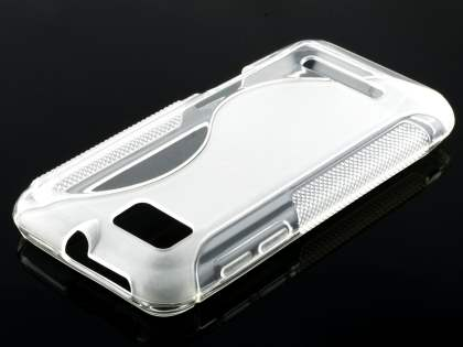 Wave Case for Motorola DEFY XT535 - Frosted Clear/Clear