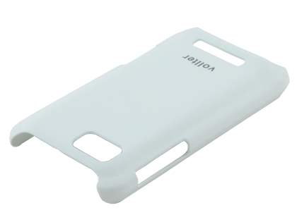 Vollter Ultra Slim Case plus Screen Protector for Motorola DEFY XT535 - Pearl White