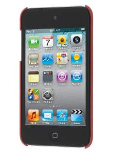 Vollter iPod Touch 4th Ultra Slim Rubberised Case plus Screen Protector - Red