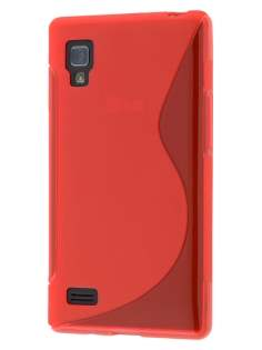 Wave Case for LG Optimus L9 P760 - Frosted Red/Red Soft Cover