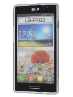 Wave Case for LG Optimus L9 P760 - Frosted Black/Black
