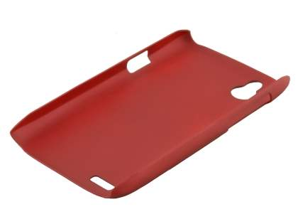 Vollter Ultra Slim Rubberised Case for HTC Desire X - Red