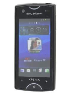 Dual-Design Case for Sony Ericsson Xperia Ray - Black/Frosted Grey