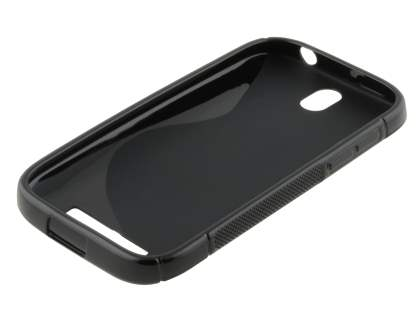 HTC One SV Wave Case - Frosted Black/Black