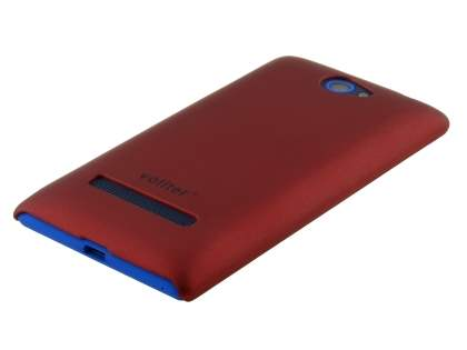 Vollter HTC Windows Phone 8S Ultra Slim Rubberised Case plus Screen Protector - Red