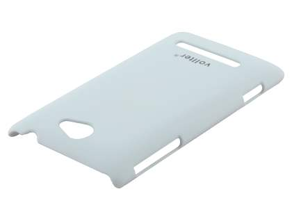 Vollter HTC Windows Phone 8S Ultra Slim Rubberised Case plus Screen Protector - Pearl White