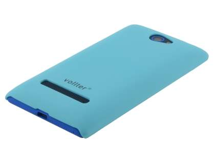 Vollter HTC Windows Phone 8S Ultra Slim Rubberised Case plus Screen Protector - Sky Blue