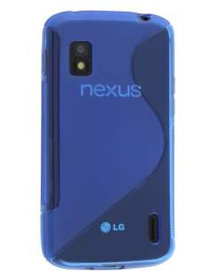 Wave Case for LG Nexus 4 E960 - Frosted Blue/Blue Soft Cover