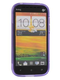 HTC One SV Wave Case - Frosted Purple/Purple
