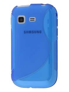Samsung Galaxy Pocket S5300 Wave Case - Frosted Blue/Blue Soft Cover