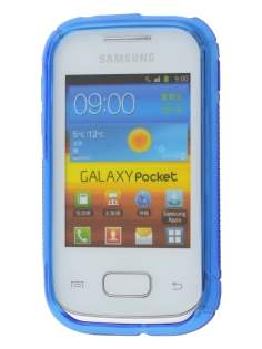 Samsung Galaxy Pocket S5300 Wave Case - Frosted Blue/Blue