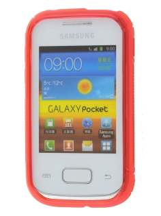 Samsung Galaxy Pocket S5300 Wave Case - Frosted Red/Red