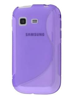 Samsung Galaxy Pocket S5300 Wave Case - Frosted Purple/Purple Soft Cover