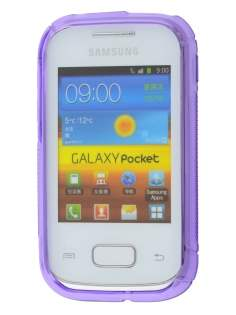 Samsung Galaxy Pocket S5300 Wave Case - Frosted Purple/Purple