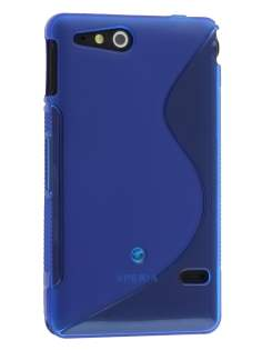 Sony Xperia go ST27i Wave Case - Frosted Blue/Blue Soft Cover