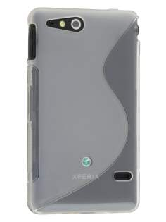 Sony Xperia go ST27i Wave Case - Frosted Clear/Clear