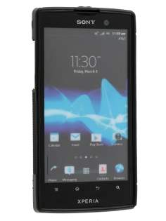 Sony Xperia ion LT28i Wave Case - Frosted Black/Black