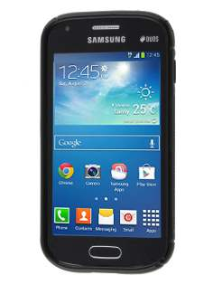 Samsung Galaxy Trend Plus S7583T / S Duos S7562 Wave Case - Frosted Black/Black
