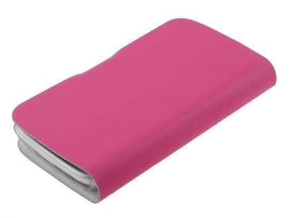 HTC Desire X T328e Slim Genuine Leather Portfolio Case - Pink