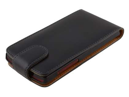 Synthetic Leather Flip Case for Sony Xperia ion LTE LT28i - Black