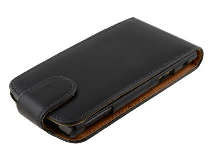 Sony Xperia acro S LT26w Synthetic Leather Flip Case - Black