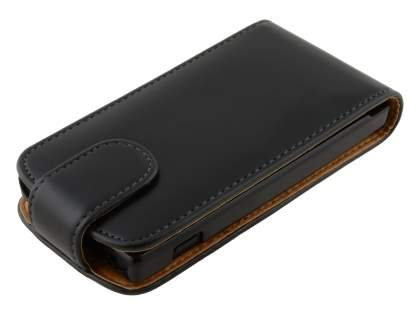 Sony Xperia Sola MT27i Synthetic Leather Flip Case - Black