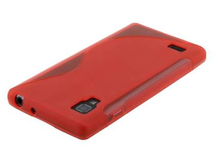 LG Optimus L9 P760 Wave Case - Frosted Red/Red