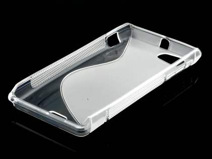 Sony Xperia J ST26i Wave Case - Frosted Clear/Clear