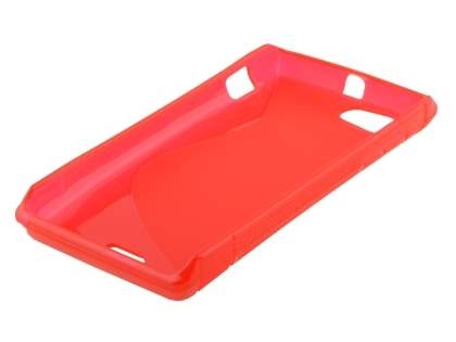 Sony Xperia J ST26i Wave Case - Frosted Red/Red