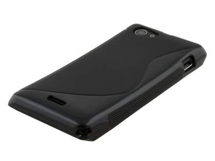Sony Xperia J ST26i Wave Case - Frosted Black/Black