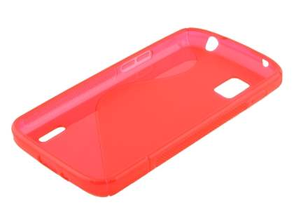 LG Nexus 4 E960 Wave Case - Frosted Red/Red