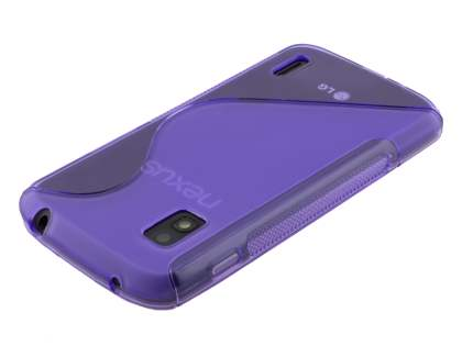 LG Nexus 4 E960 Wave Case - Frosted Purple/Purple