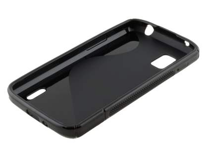 LG Nexus 4 E960 Wave Case - Frosted Black/Black