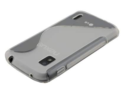 Wave Case for LG Nexus 4 E960 - Frosted Clear/Clear