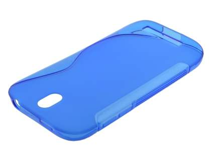 HTC One SV Wave Case - Frosted Blue/Blue